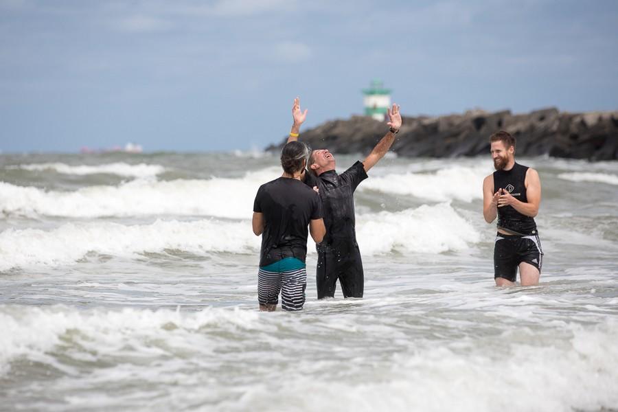Hup, de zee in voor het ja-woord