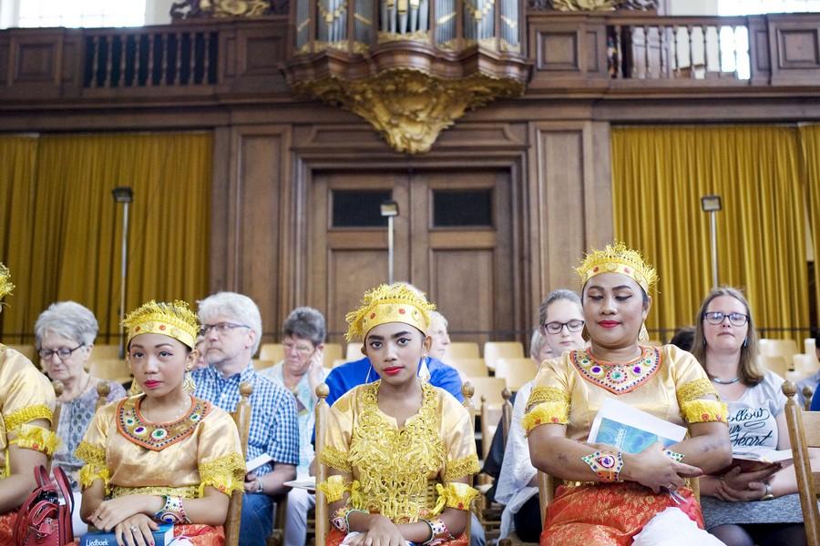 Engelen gezien in Lutherse kerk