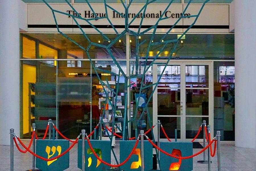 Joods licht- en kinderfeest in het Atrium